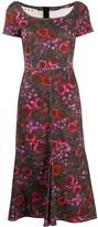Marni Floral-Print Denim Dress