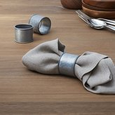 Crate & Barrel Galvanized Iron Napkin Ring