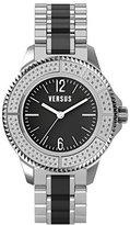 Versus By Versace Women's 3C64200000 Tokyo Stainless Steel Black Dial Crystal Bracelet Watch