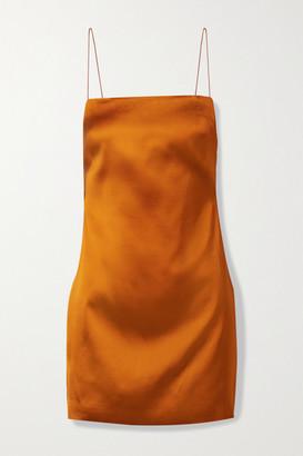 GAUGE81 Bima Open-back Satin Mini Dress