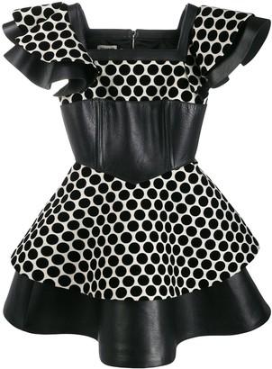 Fausto Puglisi polka dot panelled dress