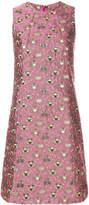 Femme By Michele Rossi sleeveless jacquard mini dress
