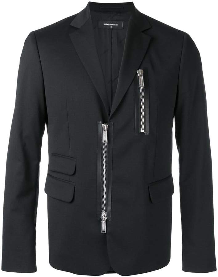DSQUARED2 zipped blazer