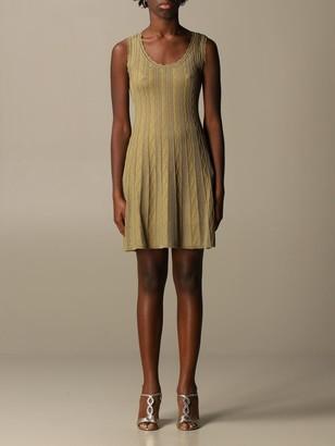 M Missoni Knit Dress With Zig Zag Knit