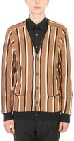 Lanvin Stripes Wool Cardigan Camel