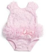 Infant Girl's Popatu Flower Tutu Bodysuit