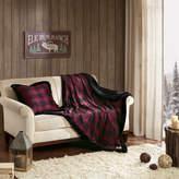 Woolrich Plush Plaid Faux Fur Throw
