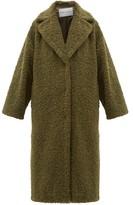 Stand Studio Lisbeth Single-breasted Faux-shearling Teddy Coat - Khaki