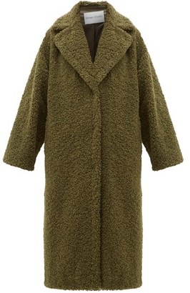 Stand Studio Lisbeth Single-breasted Faux-shearling Teddy Coat - Womens - Khaki