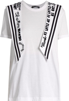 Dolce & Gabbana Embroidered sailor-collar cotton-jersey T-shirt