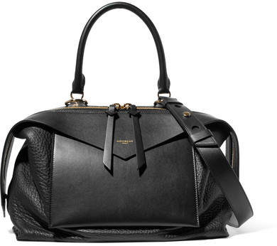 Givenchy Sway Medium Smooth And Textured-leather Tote - Black