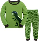 Canvos Little Boys Pajama Sets Dinosaur Pjs Set Cotton Toddler Sleepwear Size 2- (7Years, )