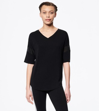 Mny Performance Short Sleeve V-Neck Tee With Mesh Bands