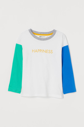 H&M Color-block Jersey Shirt
