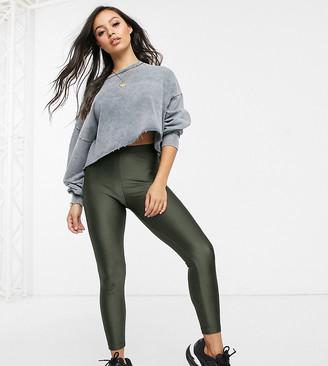 Asos DESIGN Petite disco legging-Green