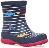 Joules Boys Navy Stripe Cars Wellingtons