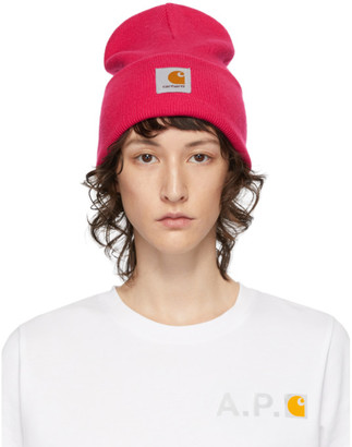 Carhartt Work In Progress Pink Watch Beanie