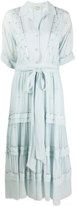 Temperley London Abbey tiered midi dress