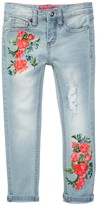 Betsey Johnson Screen Print Skinny Cuffed Jean (Big Girls)