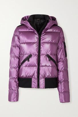 Goldbergh Aura Hooded Quilted Metallic Down Ski Jacket - Violet