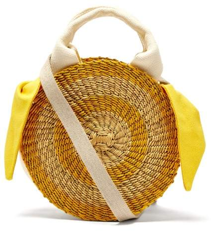 Muun Rosa Straw Bag - Womens - Yellow Multi