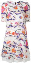 Emilio Pucci short-sleeved floral print dress - women - Silk/Spandex/Elastane/Viscose - 42