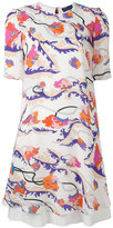 Emilio Pucci short-sleeved floral print dress - women - Silk/Spandex/Elastane/Viscose - 44