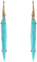 Irene Neuwirth Diamond, turquoise & yellow-gold earrings