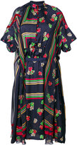 Sacai geometric and floral print sheer dress - women - Polyester/Cupro - 1