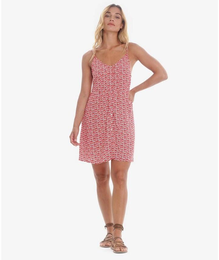 Thumbnail for your product : Le Temps Des Cerises Printed Cami Mini Dress