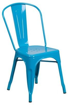 Flash Furniture Crystal Metal Indoor-Outdoor Stackable Chair, Multiple Colors