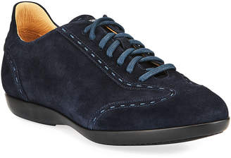 Magnanni Men's Suede Low-Top Fashion Sneakers