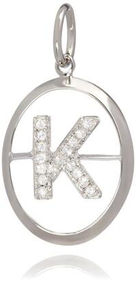 Annoushka White Gold and Diamond K Pendant