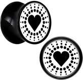 Body Candy Acrylic Heart Saddle Plug Pair 00 Gauge