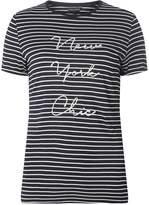Dorothy Perkins Ivory Striped Motif T-Shirt