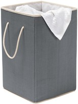 Honey-Can-Do Grey Foldable Resin Hamper