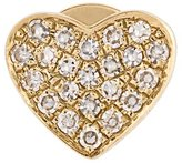Ef Collection diamond heart stud earring