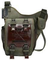Donalworld Men Boys Canvas Shoulder Military Messenger Bag Sling Chest Bag