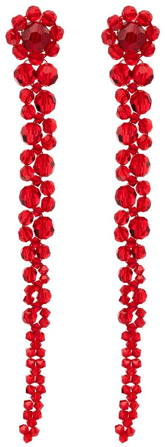 Simone Rocha Drip crystal drop earrings