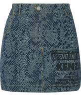 Kenzo Printed Denim Mini Skirt