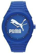 Puma 'PU10359 Gummy Cat' Quartz Plastic and Silicone Casual Watch, Color:Blue (Model: PU103592015)