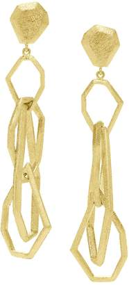 Rush Jewelry Design Icon Victoire Puzzle Drop Earrings