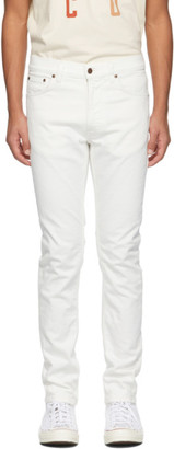 Nudie Jeans Off-White Lean Dean Jeans
