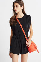 BCBGeneration Zippered Mini Bucket Cross-Body Bag - Orange