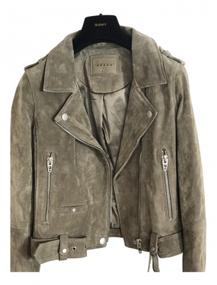 Blank NYC Grey Suede Leather Jacket for Women