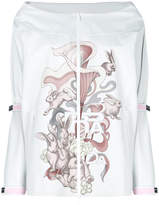 Prada rabbit print zipped top
