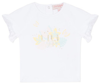 Lili Gaufrette NALIS girls's T shirt in White