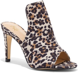 New York & Co. Leopard Peep-Toe Sandal