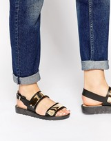 Park Lane Metal Chunky Flat Sandals