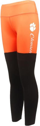 Women's Orange Clemson Tigers Polyester and Sweater Combo Leggings